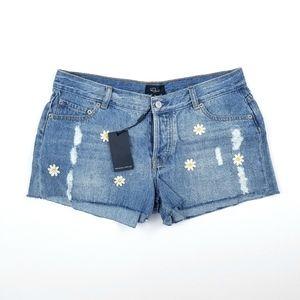NWT Rails Daisy Emroided Jean Shorts Size 29W